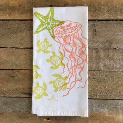 Jelly, Turtle, Star Tea Towel