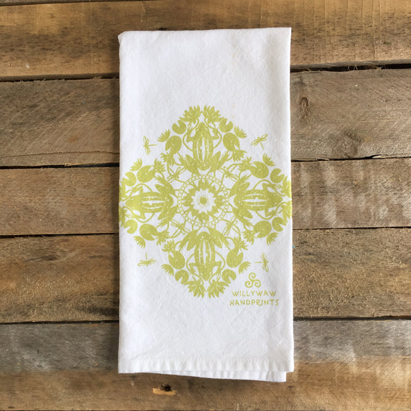 Frog Mandala Tea Towel