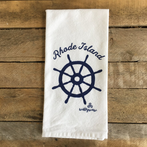 Ship's Wheel Tea Towel