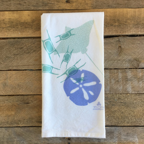 Sand Dollar, Skate Egg & Ray Tea Towel