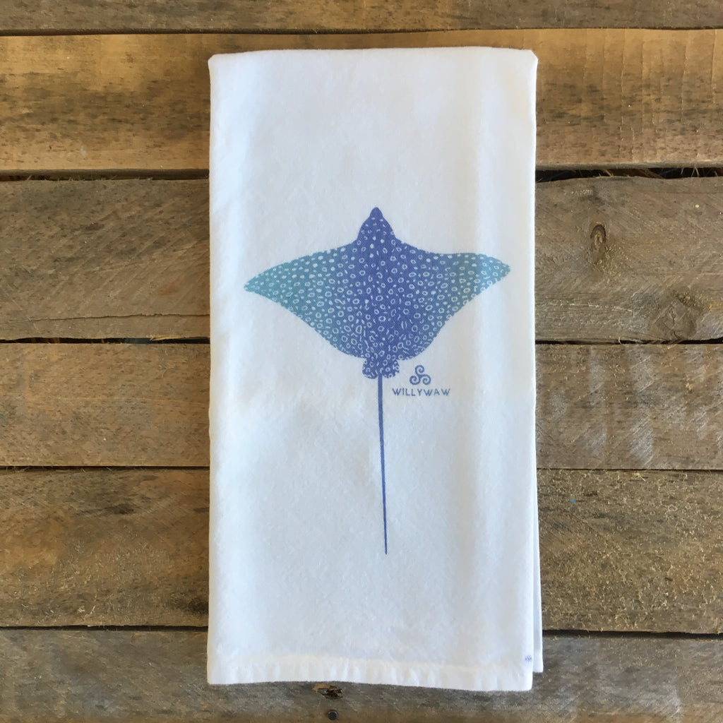 Eagle Ray Tea Towel