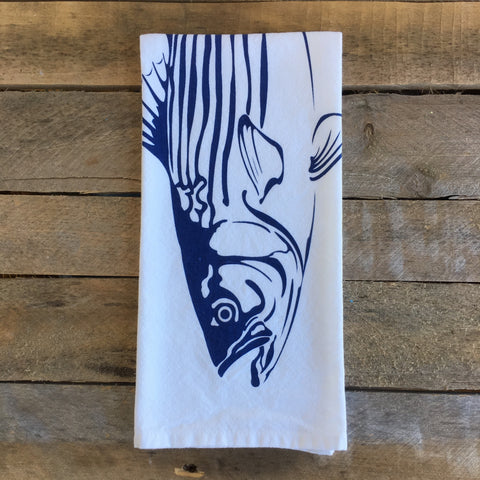 Striped Bass Tea Towel