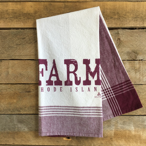 Farm Rhode Island, Striped Tea Towel
