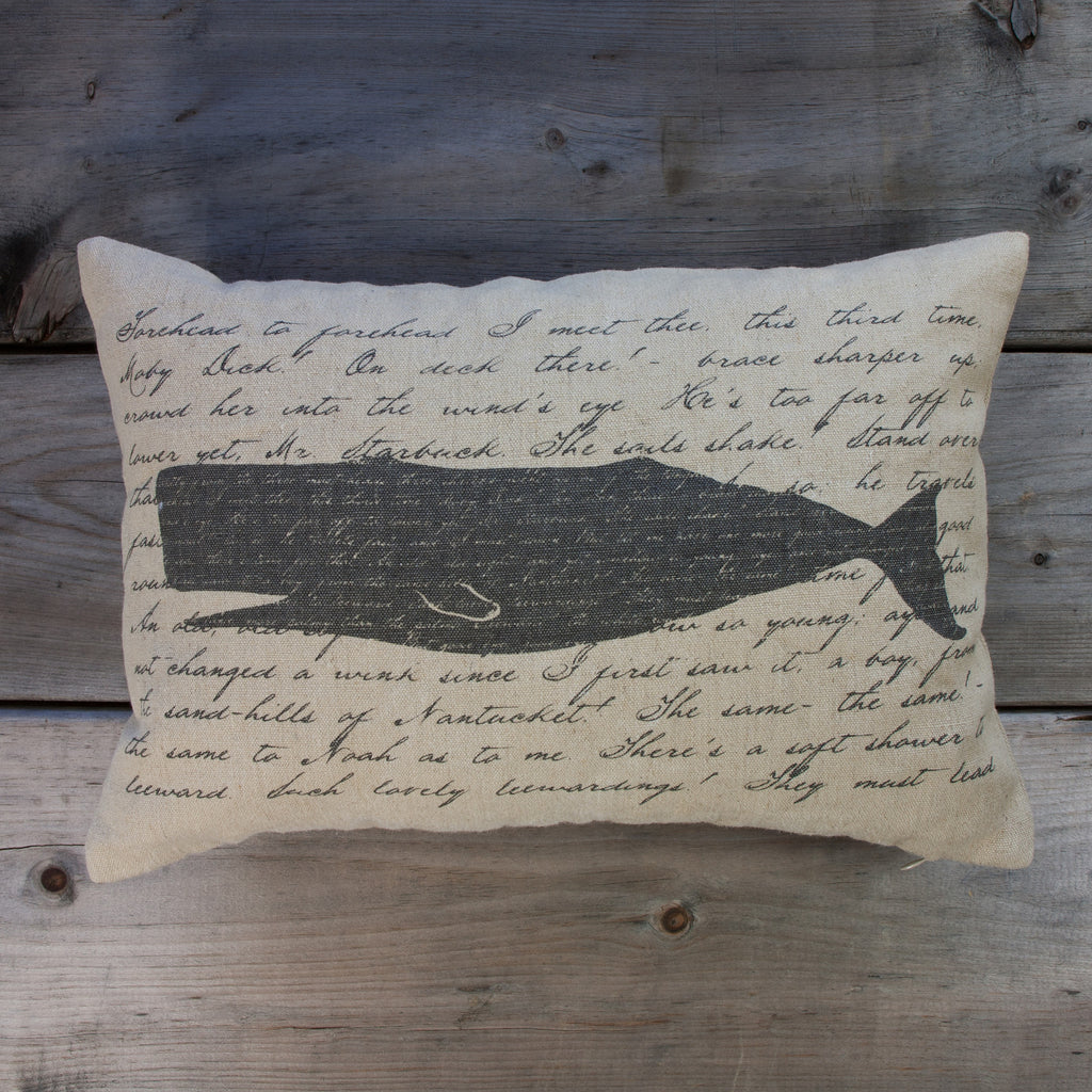 Moby Dick Pillow, 13x19