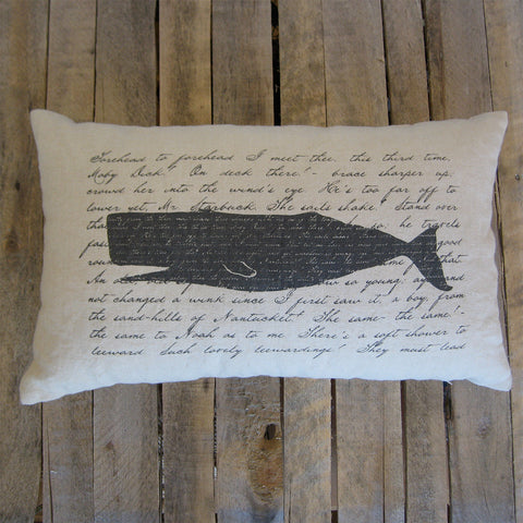 Moby Dick Pillow, 16x26