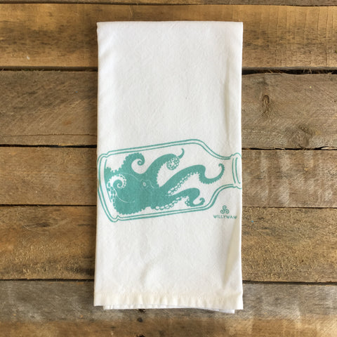 Octopus in a Bottle Tea Towel