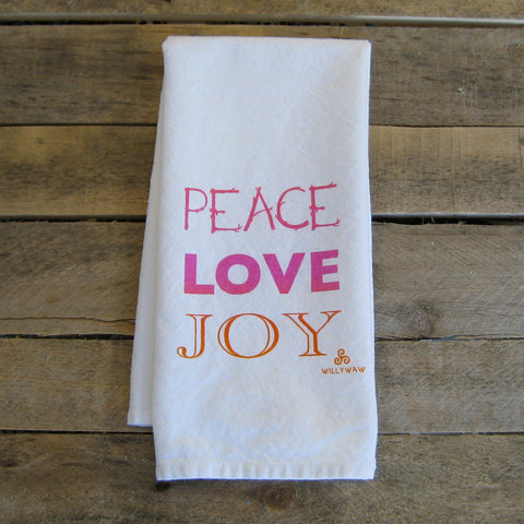 Peace Love Joy Tea Towel