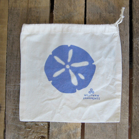 Small Organic Cotton Ditty Bag - Sand Dollar