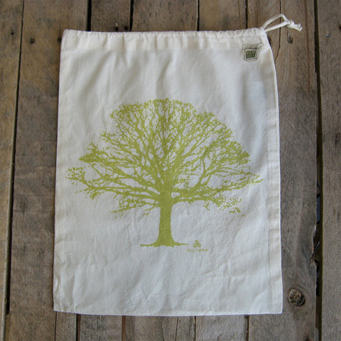 Large Organic Cotton Ditty Bag - Tree