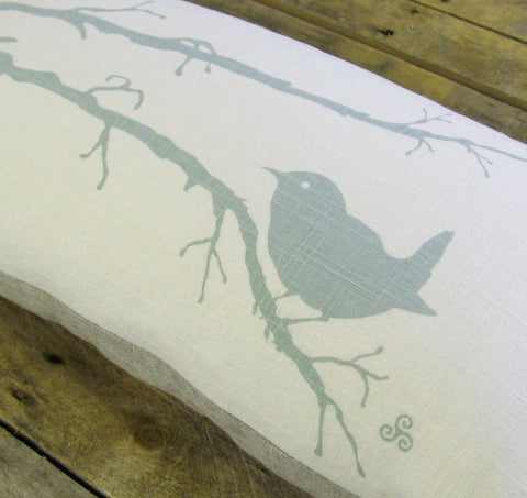 Winter Wren Pillow, 12x24