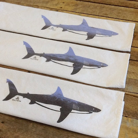 Great White Shark Tea Towel - 2 color blend