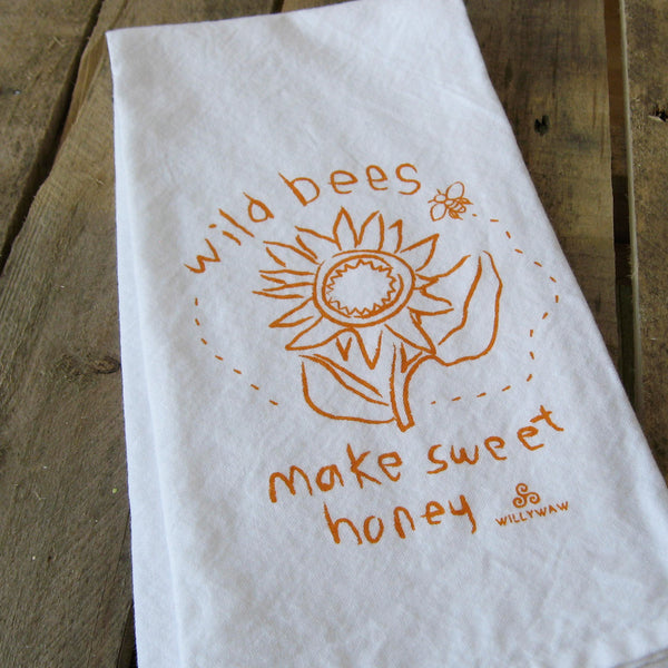 Wild Bees Tea Towel