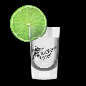 Rickshaw Stop Logo Shot Glass