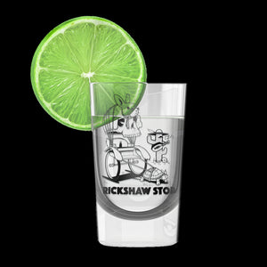 Jeremy Fish Rickshaw Stop Shot Glass