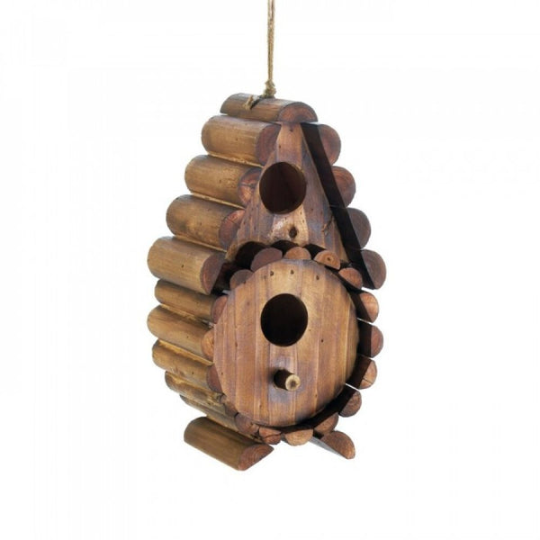 Round Log Birdhouse
