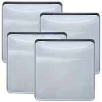 Range Kleen Square Stainless Steel Burner Kovers 4 Pk