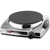 Brentwood Electric Single Hotplate With Chrome Finish