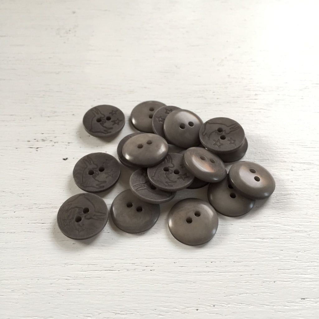 Gray Rabbit Tagua Buttons