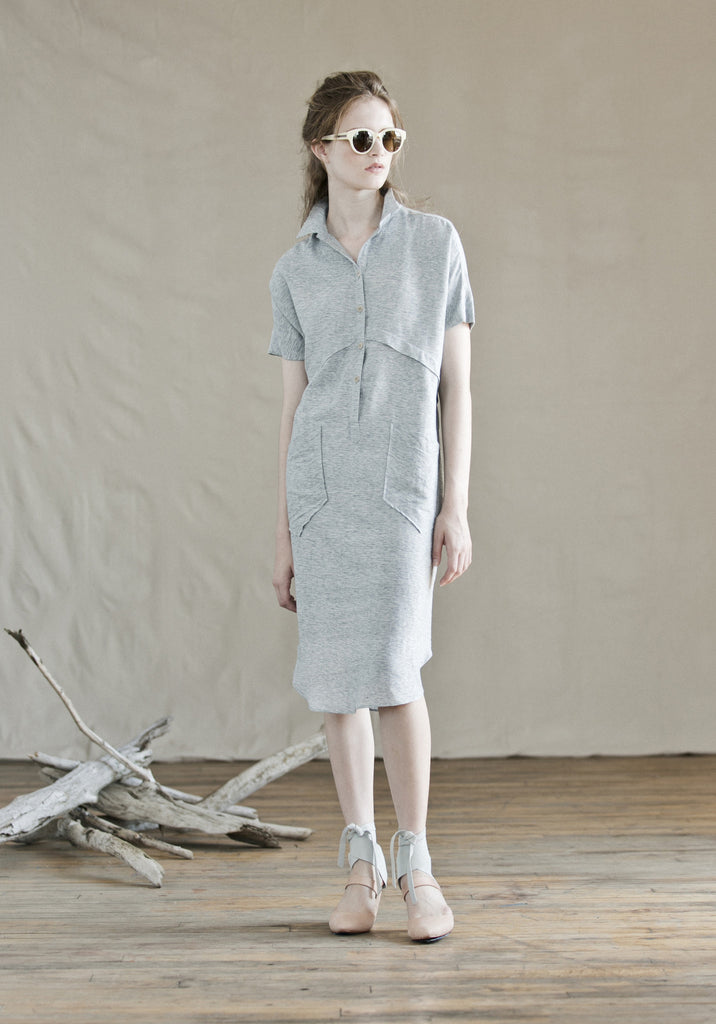 Feral Childe Collard Dress in Khadi