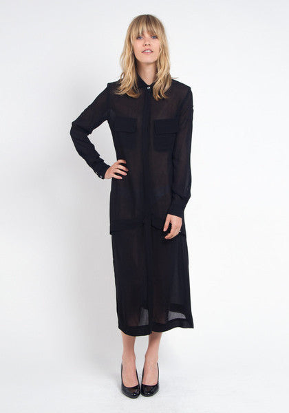 Poms Long Shirtdress