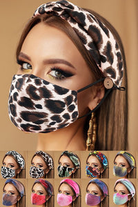 Stylish Headband and Mask Set