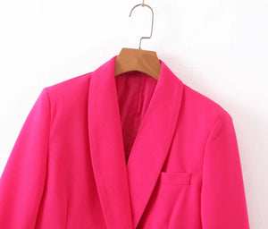 Rock Rose collared oversized blazer