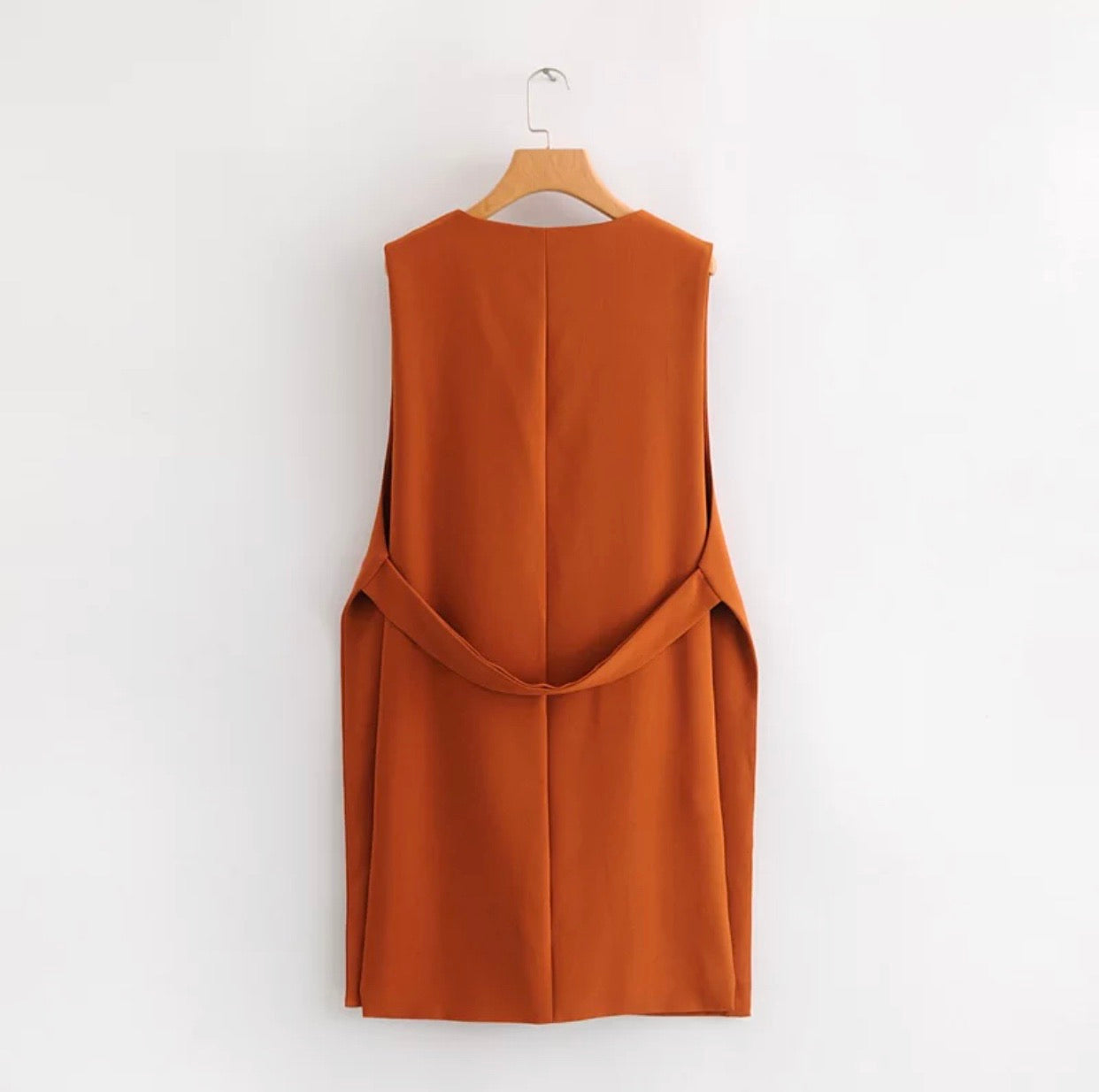 With Ease oversized long vest cardigan