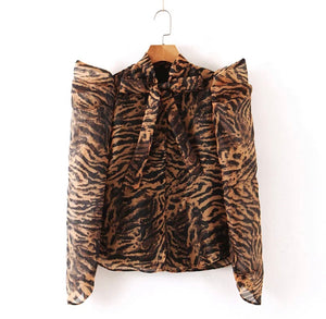 French Mari Gold puffer blouse