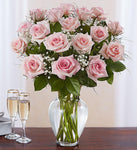 Bountiful Pink Rose Vase