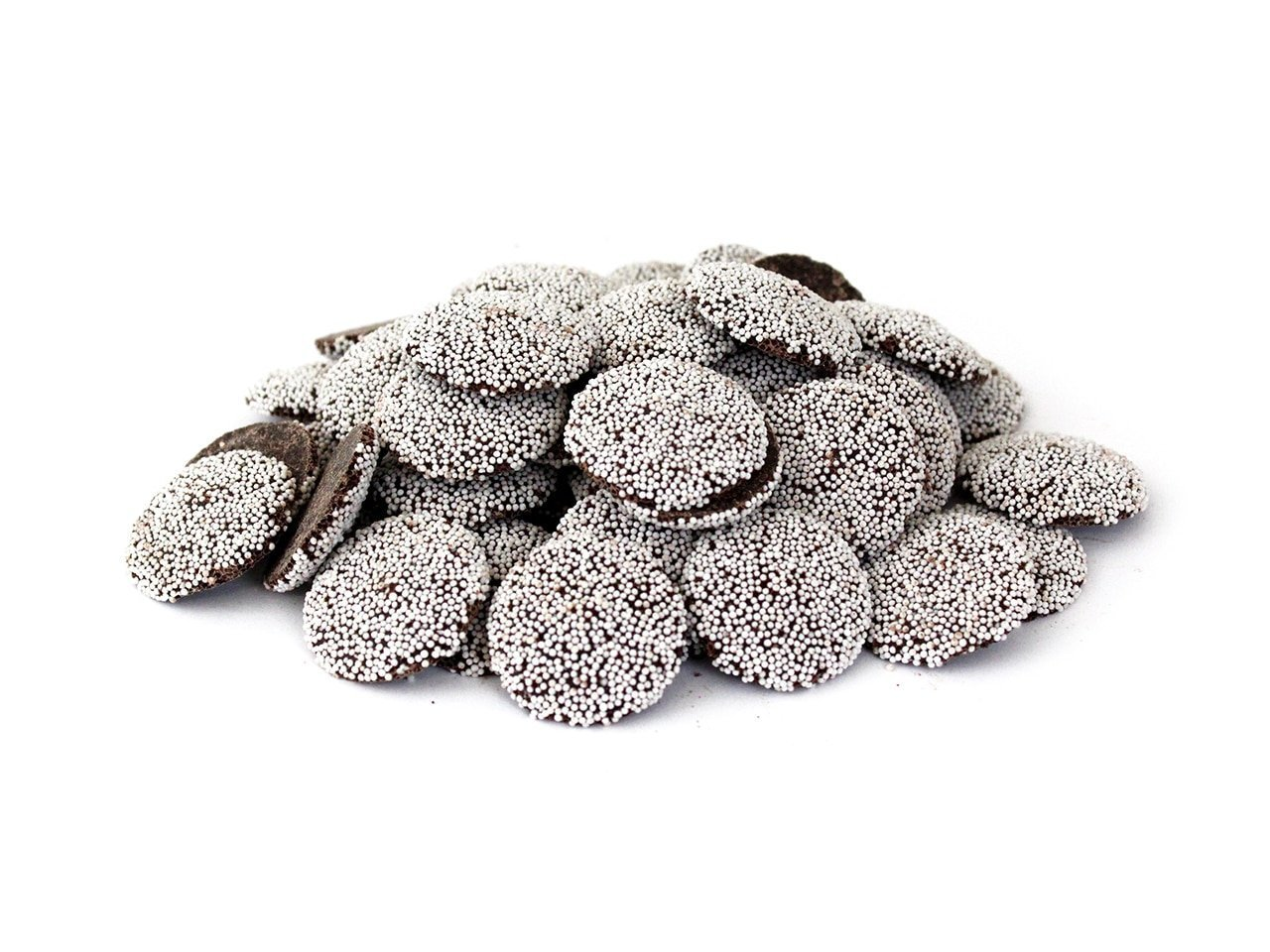 Bagged Snow Caps (Dark Chocolate Nonpareils)