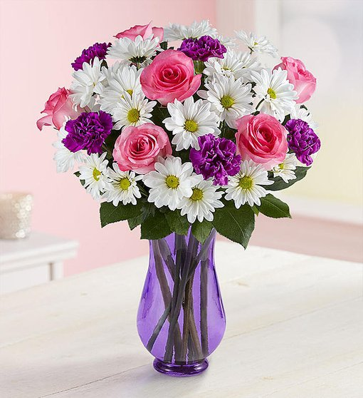 Special Love for Mom - Purple Vase