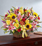 Bright Country Basket Arrangement