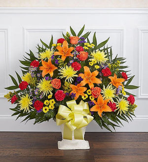 Sympathy Floor Basket - Bright