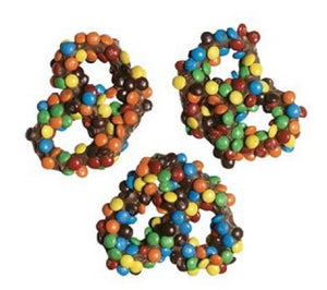 Bagged M&M covered Milk Chocolate Pretzels