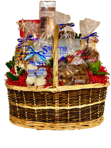 Holiday chocolate basket