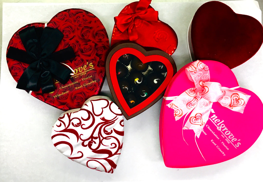 Large chocolate heart box