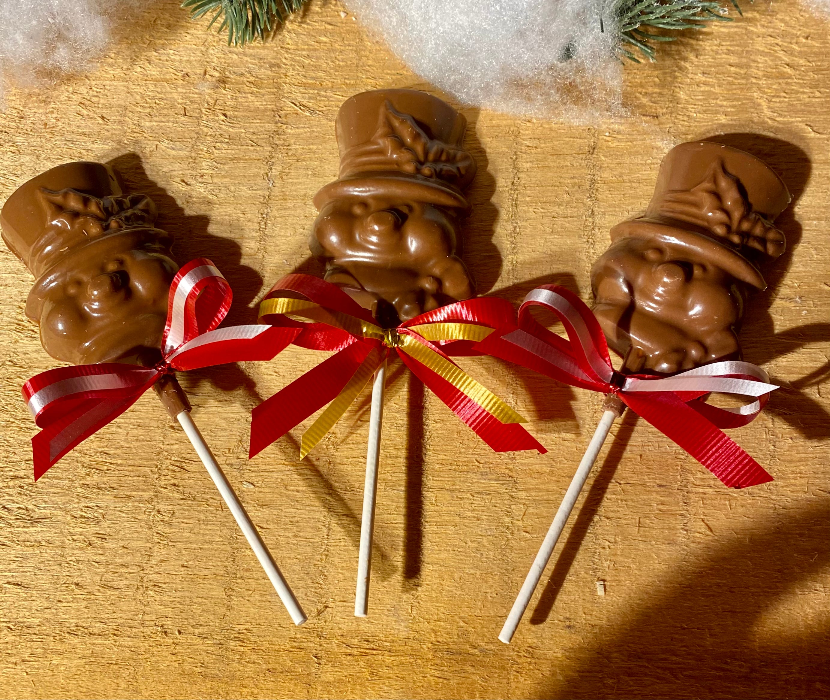 Chocolate Snowman Pops