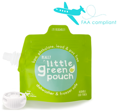 Really Little Green Pouches, at just 3.4 ounces, are FAA / TSA compliant