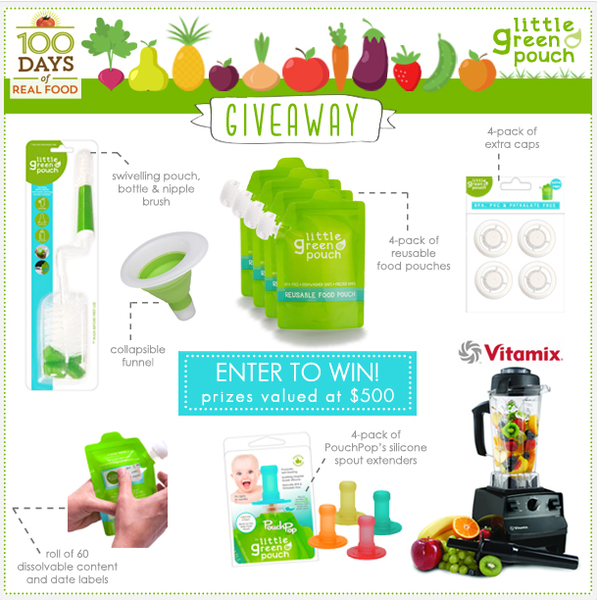 100 days of real food giveaway