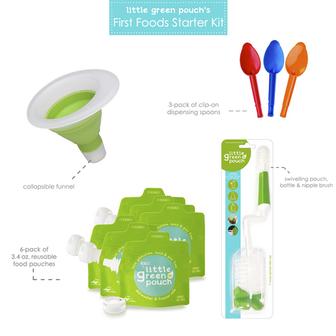 First Foods Starter Kit | Little Green Pouch