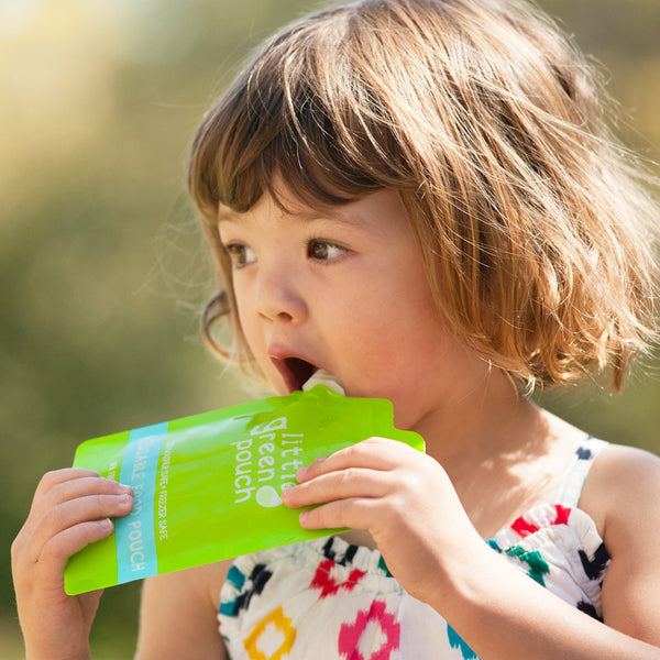 And toddlers love snacks from Little Green Pouch reusable food pouches