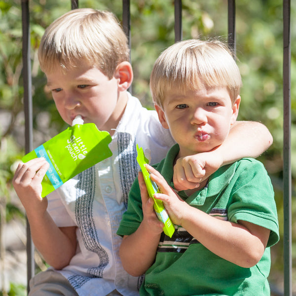 Big kids love snacks from Little Green Pouch reusable food pouches
