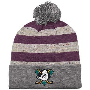 ANAHEIM MIGHTY DUCKS MITCHELL & NESS BEANIE WITH POM