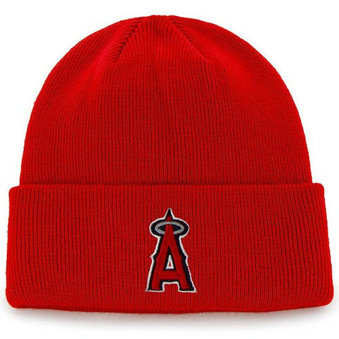 ANAHEIM ANGELS 47 BRAND BEANIE IN RED