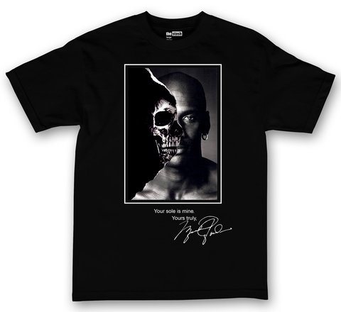 theSTASH MJ YOUR SOLE IS MINE T-SHIRT IN BLACK