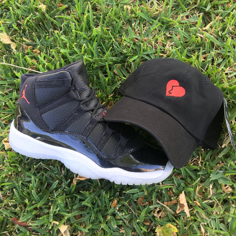 """HEARTBREAKER"" UNSTRUCTURED DAD HAT IN BLACK"
