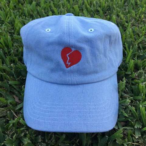 HEARTBREAKER EMBROIDERED UNSTRUCTURED DAD HAT