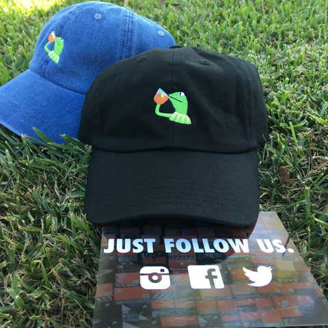KERMIT NONE OF MY BUSINESS - EMBROIDERED - UNSTRUCTURED DAD HAT