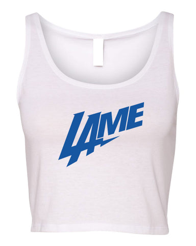 LAME CHARGERS WOMEN'S CROP TANK