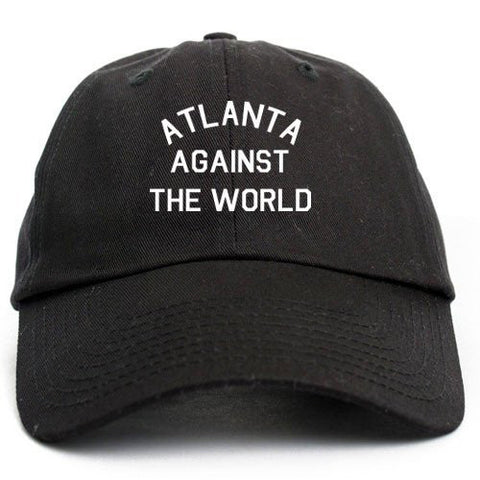 ATLANTA AGAINST THE WORLD UNSTRUCTURED DAD HAT - BLACK